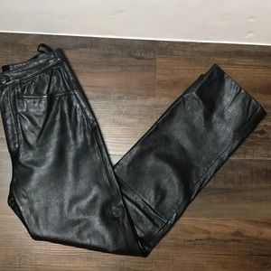 Wilson's Leather Black Leather Pants Size 2